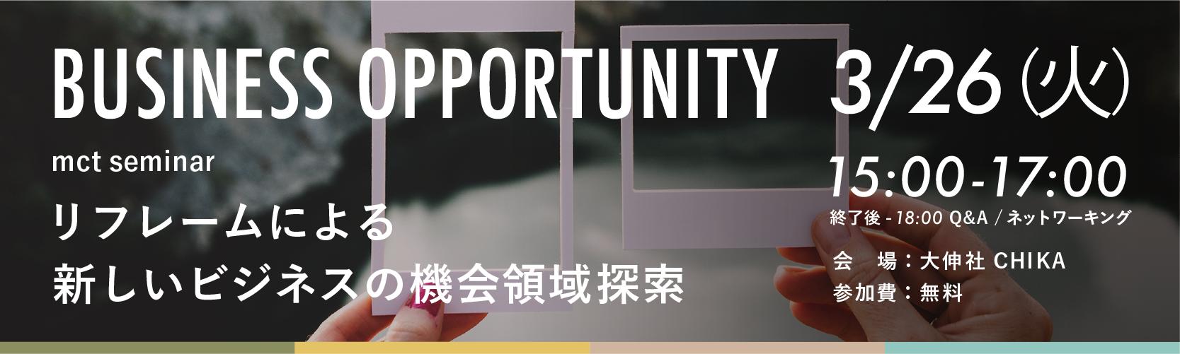 リフレームによる新しいビジネス機会領域の探索